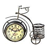 Los Relojes, Los Relojes De Bicicleta De Tres Ruedas, Los Textos Exquisitos Son Claramente Visibles, Manos Metálicas Finas, Movimiento Silencioso Sin Tictac, Adecuado como Regalos