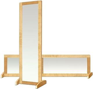 ECR4Kids Double-Sided Shatter Resistant Bi-Directional Birch Frame Mirror