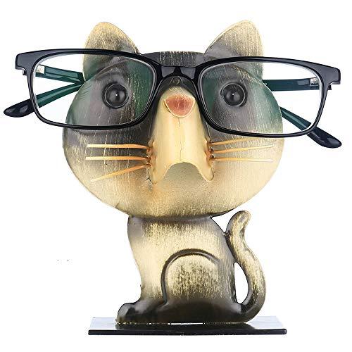 眼鏡スタンド メガネホルダー かわいい猫型 メガネ置き めがねスタンド アイアン クリエイティブホーム 眼鏡収納 おもしろ雑貨