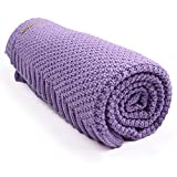 mimixiong Baby Blanket Knit Toddler Blankets for Boys and Girls Purple 40 x30 Inch