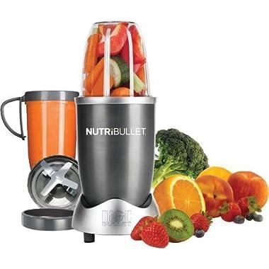 NutriBullet (Gray) Blender/Mixer, 8-piece Set (Certified Refurbished)