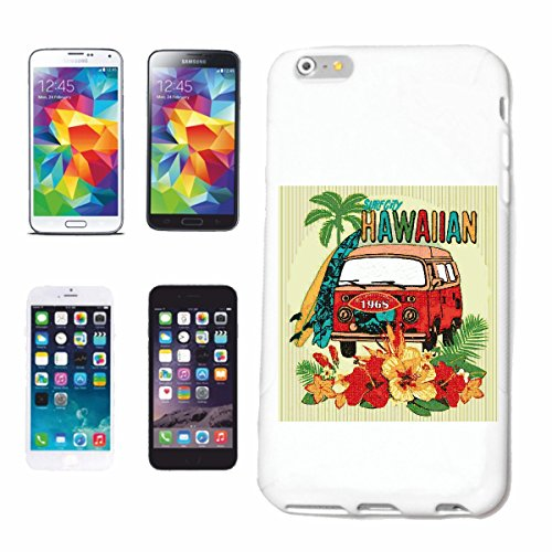 Bandenmarkt telefoonhoes compatibel met Huawei P9 Hawaii bus Surfplank Longboard Palmen zon vakantie Surfplank Longboard Golven ANF