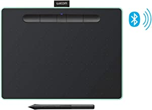 """Wacom CTL6100WLE0 Intuos Wireless Graphic Tablet with 3 Bonus Software Included, 10.4"""" X 7.8"""", Black with Pistachio Accent"""