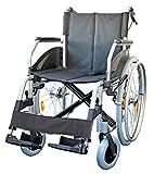 FabaCare Rollstuhl Lexis mit Trommelbremse, Standardrollstuhl faltbar, Steckachse, Transportrollstuhl bis 130 kg, Sitzbreite 51 cm