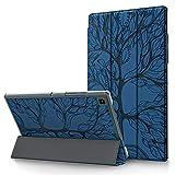 Funda para Samsung Galaxy Tab S6 Lite 10.4'' 2020 Carcasa SM-P610/ P615 Ultra Delgado Funda Protectora de Cuero PU Case con Auto-Sueño/Estela para Galaxy Tab S6 Lite 10.4 Pulgadas, Azul Real