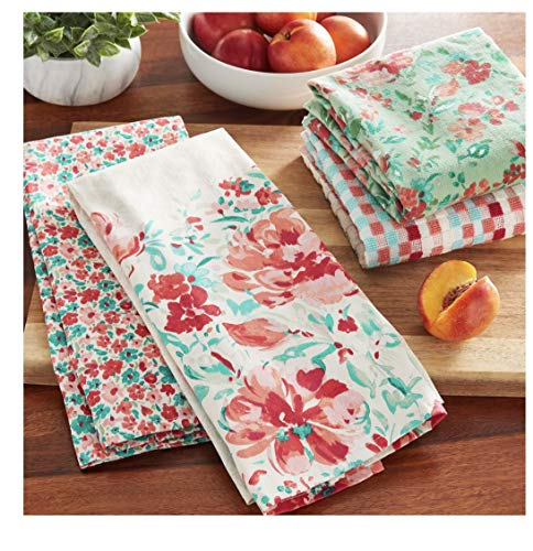 The Pioneer Woman Gorgeous Garden Kitchen Towels, 4 Pack