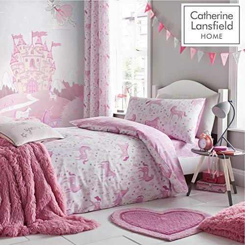 Catherine Lansfield Folk, diseño de Unicornio, Color Rosa, Rosa, 27 x 3.5 x 37 cm