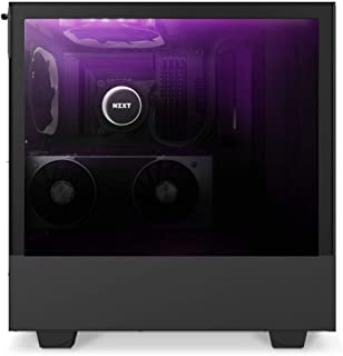 NZXT Black H510 Elite Mid Tower Windowed PC Gaming Case Negro Carcasa de Ordenador