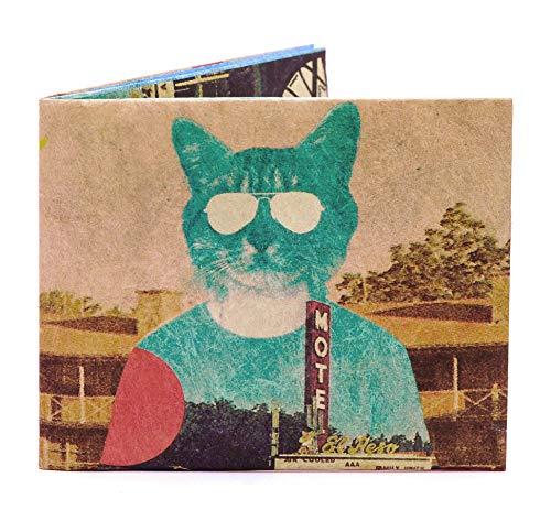 Paperwallet Tyvek Unisex Portemonnaie - Katze - von Ali Gulec - Vegan & 100% Recyclebar