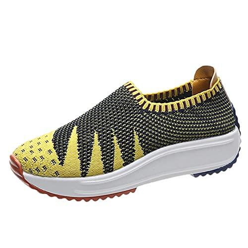 Moda Mujer Malla Casual Slip-On Zapatos deportivos Runing Zapatos transpirables Zapatillas de deportecalzado deportivo zapatilla correr running sneakers