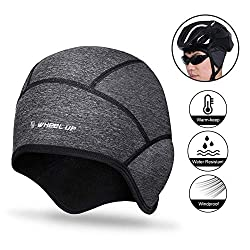 Ideal for Running Skiing /& Other Winter Sports ICOCOPRO Cycling Skull Cap Thermal Beanie Headwear with Ear Cover Cycling Ultimate Thermal Retention Stretchable Tight