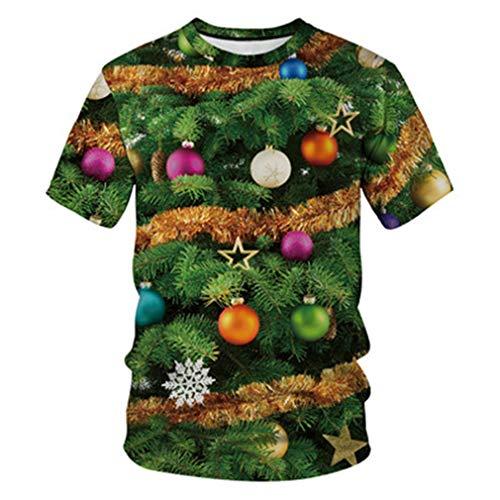 T-shirt sapin de noël décoré