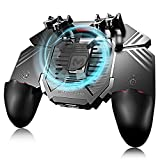 Game Controller, IUGGAN Game Pad Sensitive L1R1 Shoot and Aim Keys Joysticks Shooter Controller for PUBG/Knives Out/Rules of Survial Gaming Triggers for iOS and Android (10th Gen + Gamepad)
