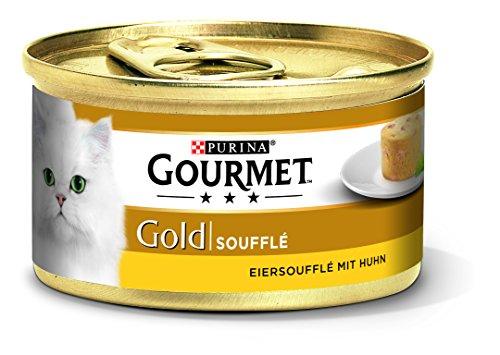 Purina Gourmet Gold Soufflé, Kattenvoer, Natvoer, 12 Stuks (12 x 85 g Blik)