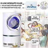 FeiGu Lámpara antimosquitos – Trampa 5 W Matamoscas/Mate eléctrica para Matar a los Insectos con una lámpara LED Ultravioleta USB 368 NM, sin Productos químicos