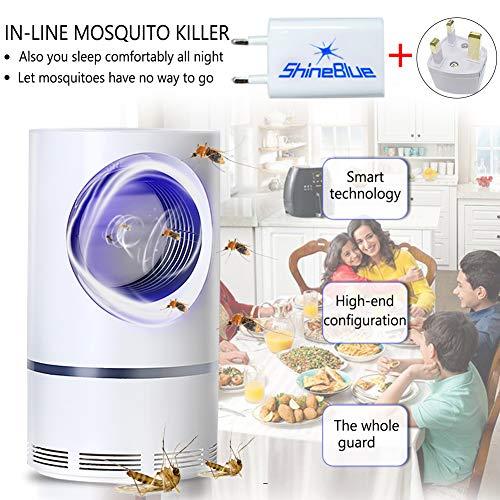 Lampada anti-zanzare - Trappole per insetti 5 W Matamoscas / Mata Zanzariera elettrica per proteggere i bambini, uccide gli insetti con una lampada LED ultravioletta USB 368 NM, senza prodotti chimici