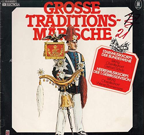 Grosse Traditionsmärsche / Stabsmusikkorps der Bundeswehr / 1974 / EMI 1C178-31503/04 / Bildhülle / Deutsche Pressung / 12 Zoll 30cm Vinyl Doppel-Langspiel-Schallplatte DLP / Keine CD /