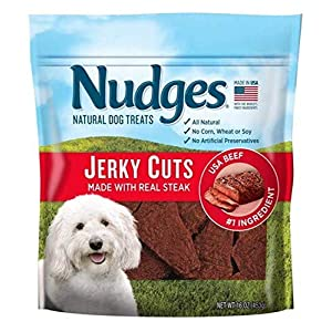 Nudges Natural Dog Treats Jerky Cuts Made with Real Steak