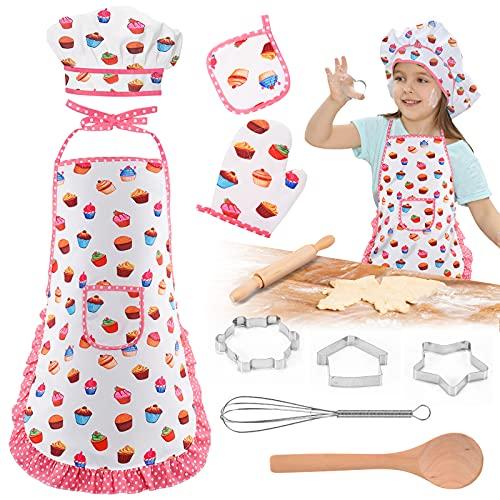 Dreamingbox 11 Piezas de Kits de Cocina para Niños, Utensilios de Cocina y Disfraz Cocinero - Regalos y Juguetes para Niños