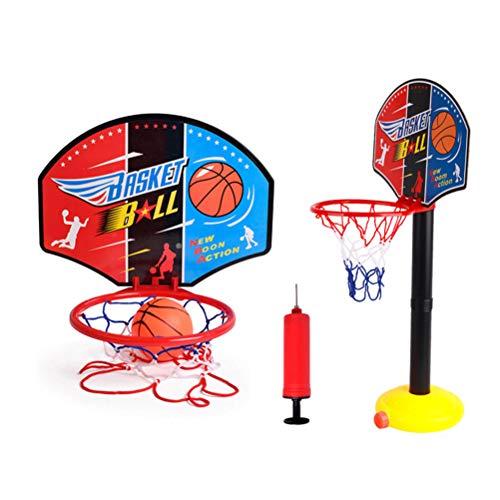 Oulian Kinder Basketballkorb Und Backboard-Set Tragbares Heim Basketballkorb mit Einstellbarer Höhe Und Ständer für Drinnen im Freien Kinderspielzeug für Jungen Mädchen Ab 3 Jahren