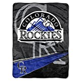 NORTHWEST MLB Colorado Rockies Raschel Throw Blanket, 60' x 80', Speed
