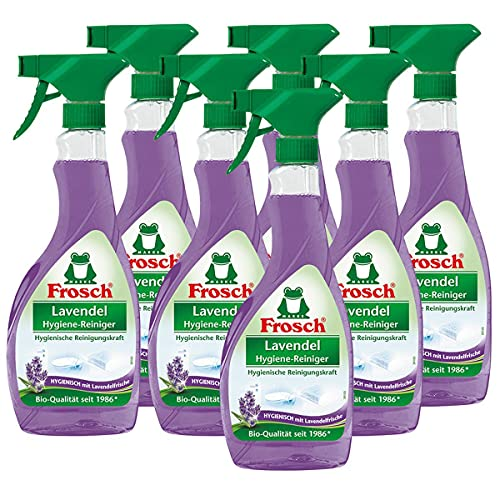 7x Frosch Lavendel Hygiene-Reiniger 500 ml Sprühflasche