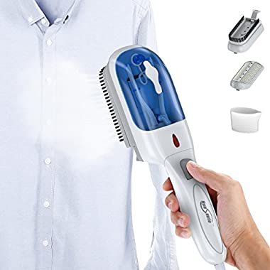 Housmile Garment Steamer Fast Heat-up Handheld Portable Clothes Steamer with Brush for Clothes, for Home and Travel, 70ml