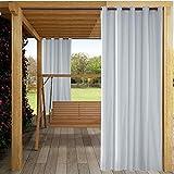 Cortinas opacas, aislamiento térmico sólido Ojal Cortinas/paneles/cortinas impermeables a prueba de sol para el patio del hogar Jardín