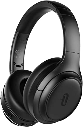 Noise Cancelling Headphones, TaoTronics [2019 Upgrade] SoundSurge 60 Bluetooth 5.0 Over Ear Headphones with Quick Charge Hi-Fi Sound 30 Hours Playtime for Travel Work TV PC Cellphone