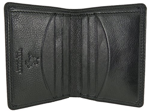 Mens Visconti Soft Leather Slim Compact Wallet For 8 Credit Cards Bank Notes Gift Boxed Black