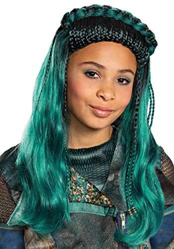 Disney Descendants 3 Girls Teal Uma Wig Standard