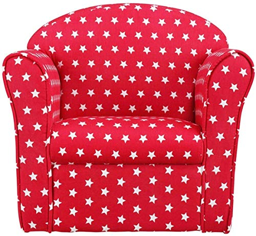 1home Classic Kindersofa Kindercouch Kindersessel Rot