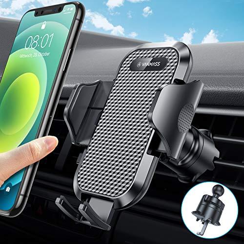 VANMASS Handyhalterung Auto Lüftung [2020 Upgrad] Kfz Handyhalterung mit Haken-Lüftungsclip 360° Drehbar Smartphone Halterung Auto Für iPhone 12 SE 11 11Pro Samsung S20 S10 Huawei Xiaomi LG usw