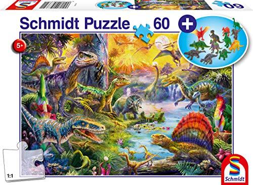 Schmidt Spiele- Puzzle da 60 Pezzi, Motivo: Dinosauro, Multicolore, 56372