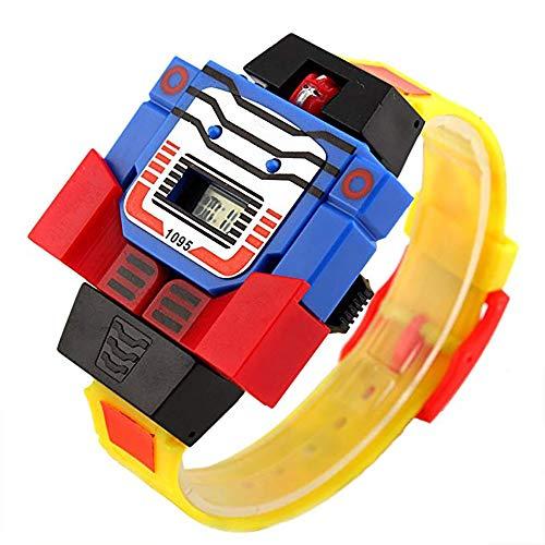 Juguetes electrónicos para niños, Reloj Digital Creativo transformadores para niños de 3 a 8 años de Edad, Relojes de Dibujos Animados, Regalos de cumpleaños para niños