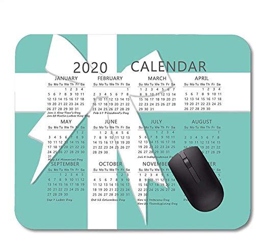 Calendario año 2020 Alfombrilla ratón Alfombrilla