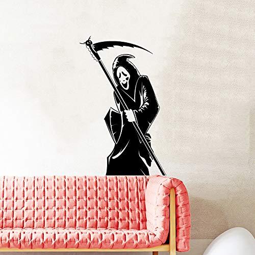 Abnehmbare 3D Wandaufkleber Halloween Party Supplies Sickle Wizard Aufkleber für Wandtattoo Halloween Kostüme für Frauen