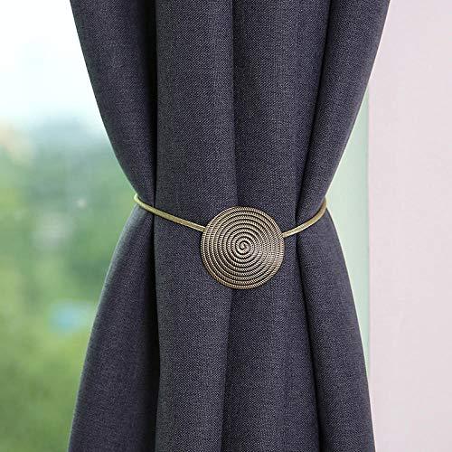 HNLHLY Home Office Decoratie modern minimalistisch metalen gordijn magnetische gesp gordijn clip slaapkamer woonkamer vrij punch gordijn gesp 1 paar Qinggu