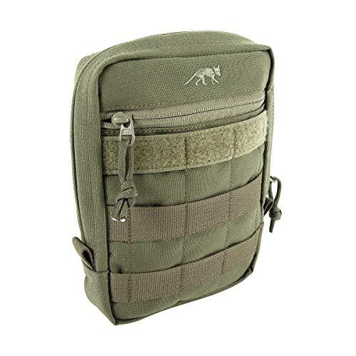 Tasmanian Tiger TT Tac Pouch 5 Rucksack Zusatz-Tasche für Zubehör EDC, Molle-kompatibel, incl. Regenhülle, 20 x 15 x 5 cm (Oliv)