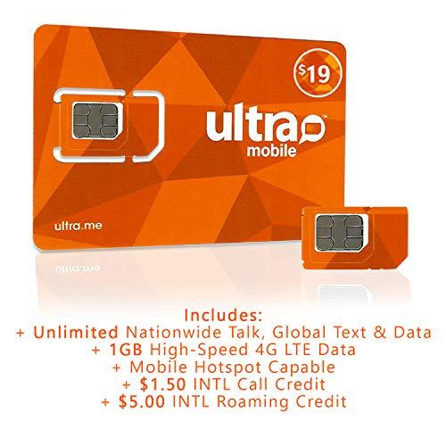 Ultra Mobile Triple Punch Regular, Micro and Nano SIM Card + 2 Months $19 Plan