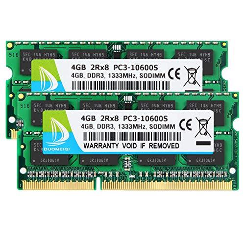 DUOMEIQI 8GB (2 X 4GB) 2RX8 PC3-10600S DDR3 1333MHz SODIMM C