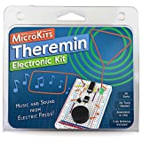 MicroKits Theremin Electronics Kit | Educational Electronic Music STEAM/STEM Kits for Kids or Adults | No Tools Needed Easy to Build Breadboard Kit