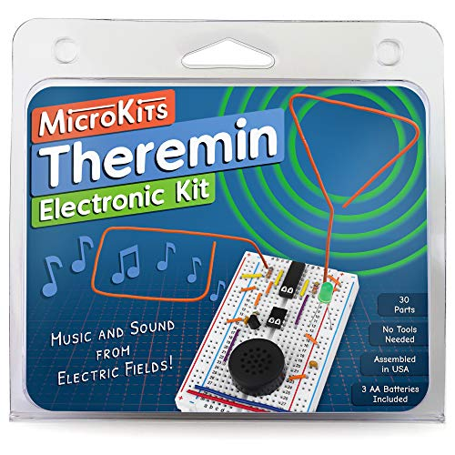 MicroKits Theremin Electronics Kit   Educational Electronic Music STEAM/STEM Kits for Kids or Adults   No Tools Needed Easy to Build Breadboard Kit