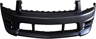 Front Bumper Cover Compatible With 2005-2009 Ford Mustang | V6 Racer Style Front Bumper End Conversion Kit PP by IKON MOTORSPORTS | 2006 2007 2008