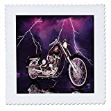 3dRose qs 8332 2 Quilt Square Picturing No.174 Harley Davidson Motorcycle