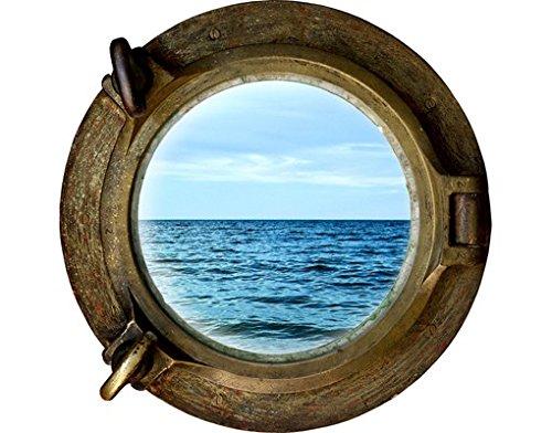 Apalis Wandtattoo No.653 Auf hoher See Bullauge Schiff Piraten Meer Urlaub Bullauge