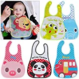 【Pack of Functional Bibs】You can use the bibs for your kids as a cover when they are in eating or doing other activities, in each pack different prints and colours of bibs could satisfy baby's daily life. 【Cute Pttern】Koochie-Koo waterproof bibs feat...