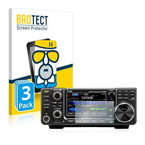 BROTECT Protector Pantalla Cristal Mate Compatible con Icom IC-9700 Protector Pantalla Anti-Reflejos Vidrio, AirGlass (3 Unidades)