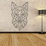 WSYYW Geometric Fox Head Wall Stickers Living Room Bedroom Baby Room Kindergarten House Decoration Animal Wall Stickers