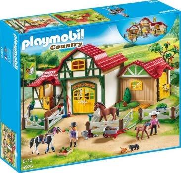 Playmo PLAYMOBIL®-Großes Reiterhof-Set (Art. 6926; 6928; 6929; 6932; 6933; 6934)